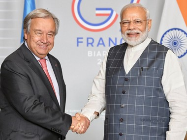 UN chief Antonio Guterres meets Narendra Modi on sidelines of G7 Summit urges India and Pakistan to avoid escalation in Kashmir
