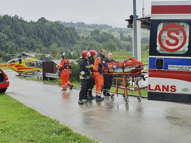 Five dead 150 injured after multiple lightning strikes at South Polands Tatra Mountains rescuers search for three missing