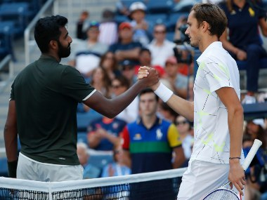 US Open 2019 Prajnesh Gunneswaran bows out in first round after losing in straight sets to World No 5 Daniil Medvedev