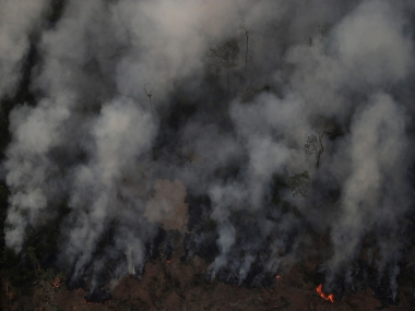 Brazilian president Jair Bolsonaro admits to farmers setting Amazon forest ablaze illegally tells foreign powers not to meddle in issue