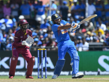Rohit Sharma went past Chris Gayle to become the highest six-hitter in T20Is. AFP