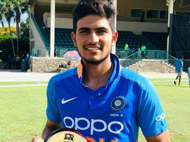 Shubman Gill went past Gautam Gambhir to become the youngest Indian to score a first-class double ton for a representative team. Image: Twitter