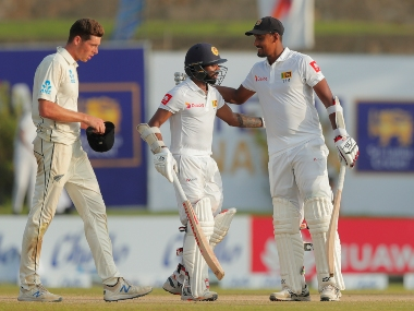 Sri Lanka resume day three with 22 runs behind New Zealand's first innings score and three wickets in hand. AP