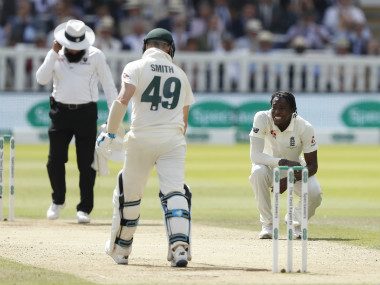 Steve Smith and Jofra Archer were locked in an intense battle on Day 4, the former fending deliveries exceeding 90 miles per hour on a regular basis. AP