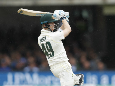 Steve Smith had been greeted with a mixture of applause and boos from the Lord's crowd after his hard-fought 92. AP