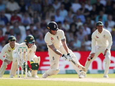Ben Stokes in action against Australia in the third Ashes Test. AFP