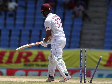 West Indies top order batsmen were not able to provide a strong start with the hosts lost the top four batsmen for 88 runs in second innings. AP