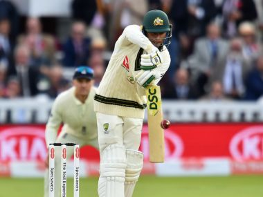 Australia's Usman Khawaja plays a shot on the second day of the second Ashes cricket Test match between England and Australia at Lord's Cricket Ground in London on August 15, 2019. (Photo by Glyn KIRK / AFP) / RESTRICTED TO EDITORIAL USE. NO ASSOCIATION WITH DIRECT COMPETITOR OF SPONSOR, PARTNER, OR SUPPLIER OF THE ECB