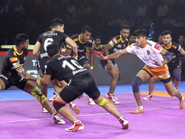 Pro Kabaddi 2019 Puneri Paltan win 3427 despite row of super tackles from Telugu Titans