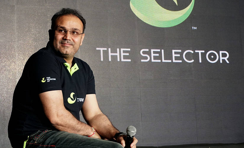 Virender Sehwag during an event in New Delhi.