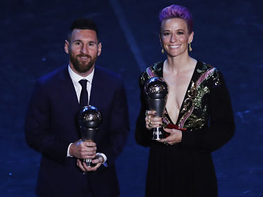 FIFA Best Player 2019 Lionel Messi pips Cristiano Ronaldo Virgil Van Dijk to win mens award Megan Rapinoe clinches womens prize