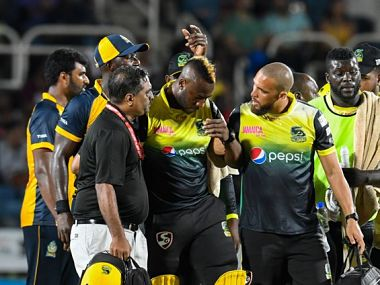 CPL organisers said Andre Russell had been cleared by scans at hospital. Image: Twitter @CPL