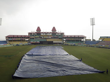India's net practice session was cancelled due to rain in Dharamshala on Saturday. AP