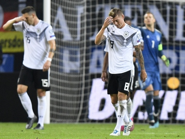 FIFA rankings Germanys slide continues as 2014 World Cup winners drop to World No 16 Belgium retain top spot