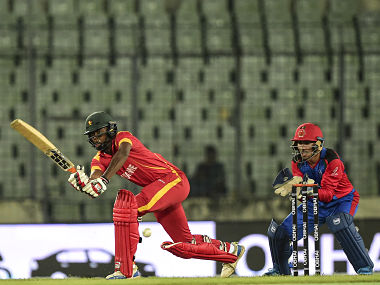 Hamilton Masakadza struck a 42-ball 71, including four fours and five sixes. AFP