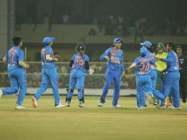 India are currently leading the five-match WT20I series 1-0. Image credit: Twitter/@BCCIWomen