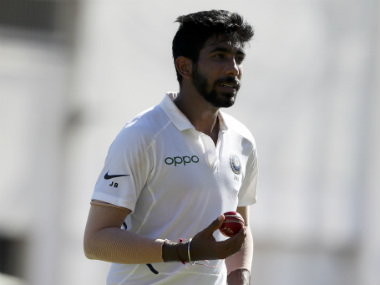 Jasprit Bumrah became only the third Indian bowler to collect a Test hat-trick, during West Indies tour. AP