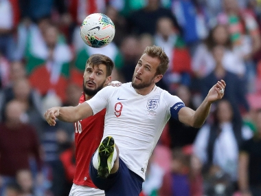 Euro 2020 qualifiers England skipper Harry Kane scores hattrick in 40 win over Bulgaria