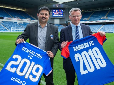 ISL Defending champions Bengaluru FC sign twoyear partnership with Scottish giants Rangers