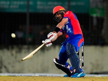 Mohammad Nabi scored unbeaten 84 off 54 balls to lead Afghanistan to a challenging 164-6. @ICC