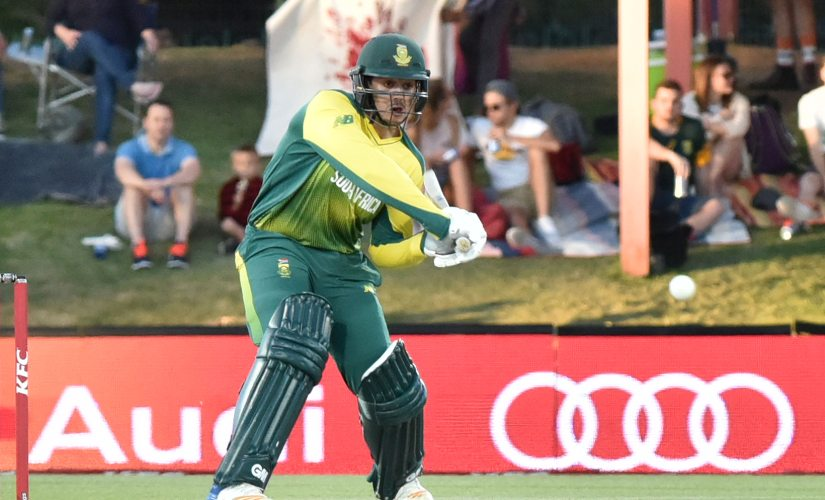 Quinton de Kock has been appointed as the captain of South Africa for three-match T20I series against India. AFP