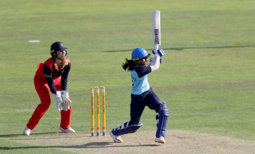 Jemimah Rodrigues had an outstanding Super League with Yorkshire Diamonds. Image courtesy: Twitter @yorksdiamonds
