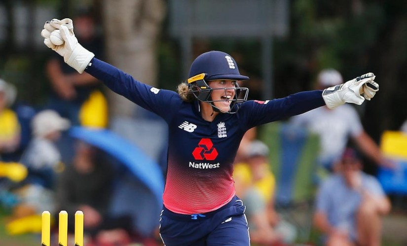 Sarah Taylor was known for her quick hands behind the stumps and finishes her career with 227 dismissals from 219 international innings. @ICC