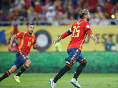 Euro 2020 Qualifiers 10man Spain make it five wins out of five with 21 victory over Romania