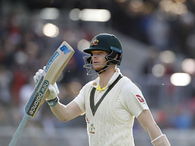 Australia's Steve Smith leaves the field after being dismissed during day four of the fourth Ashes Test cricket match between England and Australia at Old Trafford in Manchester, England, Saturday, Sept. 7, 2019. (AP Photo/Rui Vieira)
