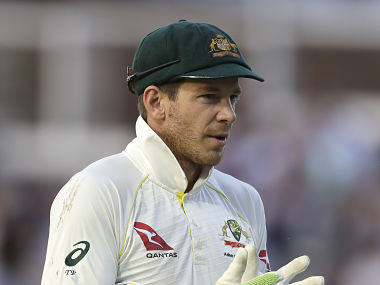 Tim Paine said it was sometimes difficult to judge from behind the stumps. AP