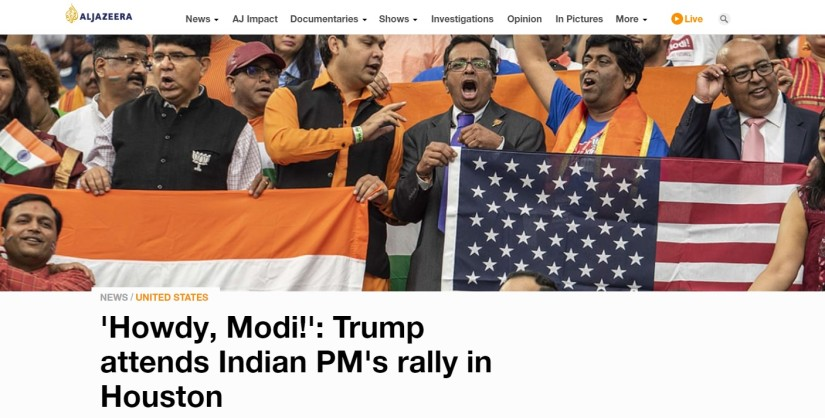 Donald Trump plays warmup act to Narendra Modi at Howdy Modi event in Houston How international media covered mass rally