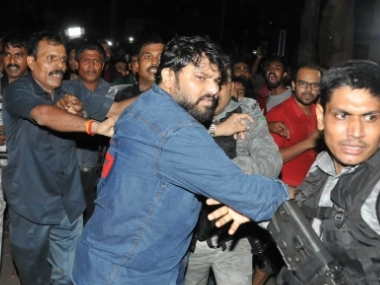 Jadavpur University incident ABVP activists protest in Kolkata over attack on Babul Supriyo clash with police during march