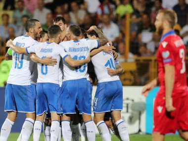 Euro 2020 Qualifiers Andrea Belotti scores double as Italy hit back to beat 10man Armenia