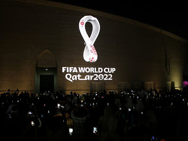 FIFA World Cup 2022 Qatar unveils 2022 World Cup logo around the globe in a ceremony that began at 2022 local time