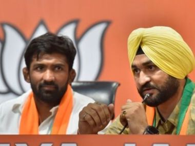 Olympic medallist Yogeshwar Dutt and exIndian hockey captain Sandeep Singh join BJP ahead of Haryana Assembly election