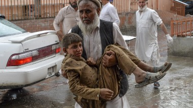 Explosion rocks mosque in Afghanistans Nangarhar province killing 62 worshippers and injuring 36 during Friday prayers
