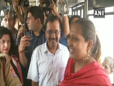 Arvind Kejriwal boards public buses takes feedback from women passengers on Delhi governments freeride scheme