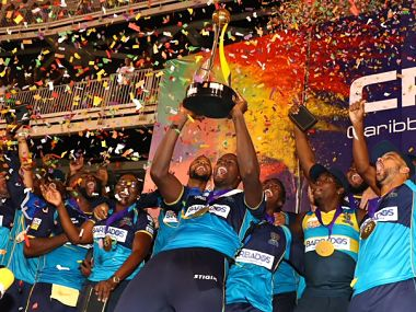 File image of defending CPL champions Barbados Tridents. Image Courtesy: Twitter @CPL