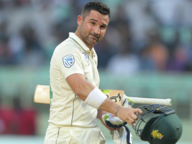 Dean Elgar became the first South African cricketer to score a Test ton in India with his 160 at Vizag. AP