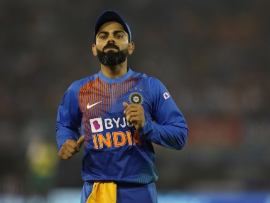 Virat Kohli (captain) of India during the 2nd T20I match between India and South Africa held at the Punjab Cricket Association IS Bindra Stadium in Mohali on the 18th September 2019 Photo by Arjun Singh / SPORTZPICS for BCCI