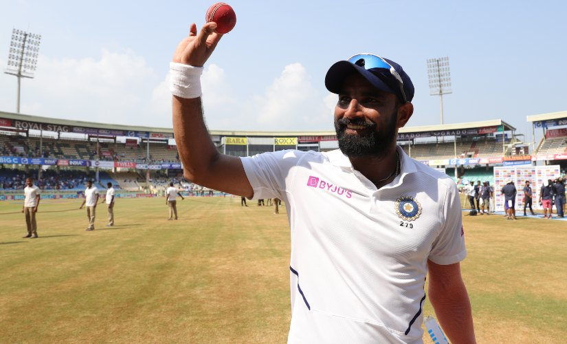 Mohammed Shami celebrates taking a five-wicket haul on Day 5 of 1st Test against South Africa. Sportzpics