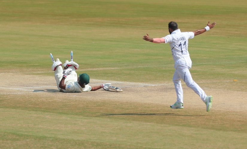 Mohammed Shami took a five wicket-haul in fourth innings as India won the 1st Test against South Africa. AP