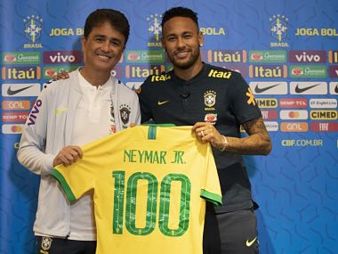 Neymar says he is happy playing for Brazil and Paris SaintGermain as forward for 100th international appearance