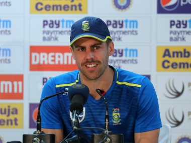 South Africa's Anrich Nortje addressing the media after day one of the third test match. Sportzpics