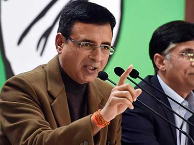 Randeep Surjewala questions Centre over arrested DSP Davinder Singh asks What is his connection with Hizbul