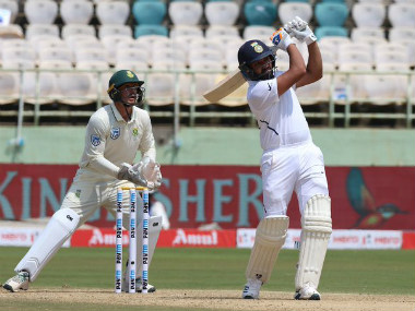 At the end of Day 1 of the first Test between India and South Africa, Rohit Sharma remained unbeaten at 115 off 174 balls. Twitter @BCCI