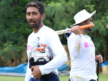 Wriddhiman Saha makes a return to India's playing XI after a long injury lay off. Image courtesy: Twitter @BCCI
