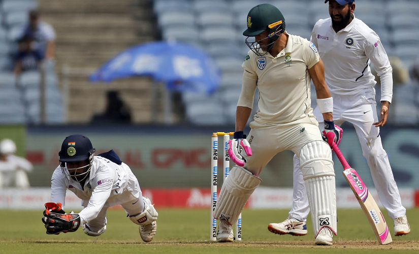 Wriddhiman Saha in action during the South Africa series. AP