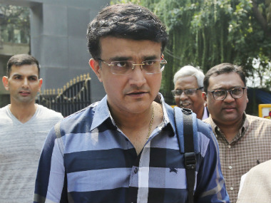 BCCI president-elect Sourav Ganguly is set to take charge in his new role from 23 October. AP