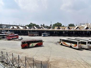 Telangana bus strike Thousands of travellers stranded as TSRTC union stir enters second day CM chairs meet to find solution